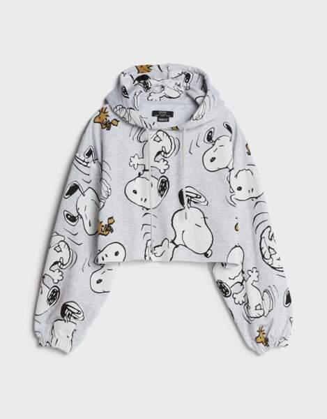 Sweat cropped Snoopy, Bershka, 29,99€