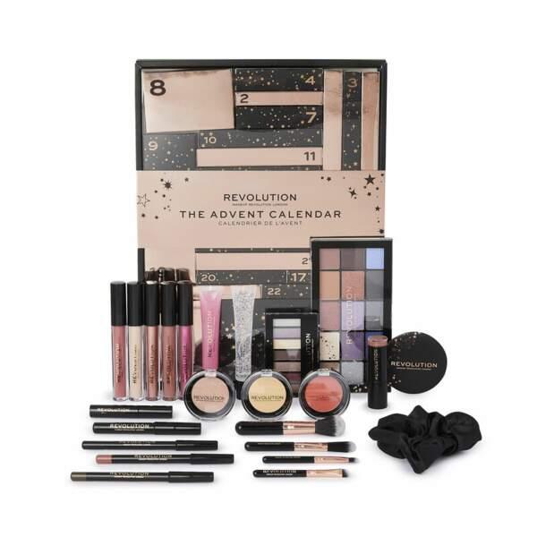 Calendrier de l'avent 2020, Makeup Revolution, actuellement à 39,99€