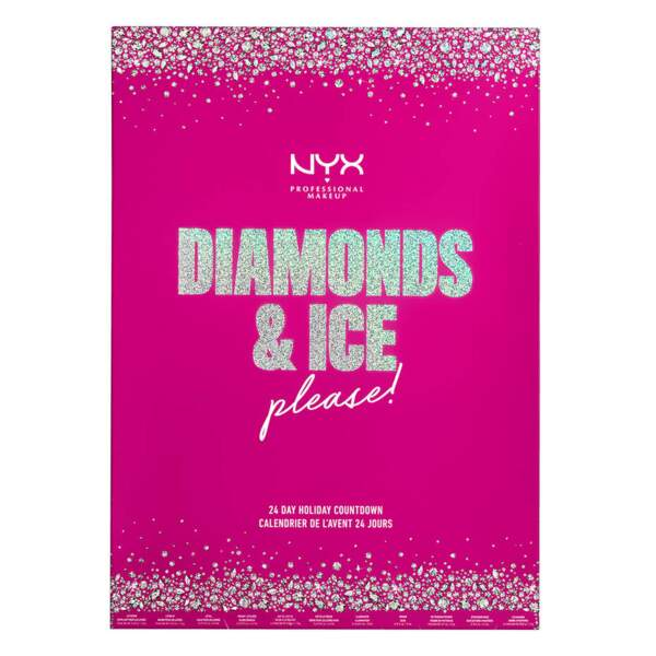 Calendrier de l'avent Diamonds & Ice, NYX Professional Makeup, 49,90€