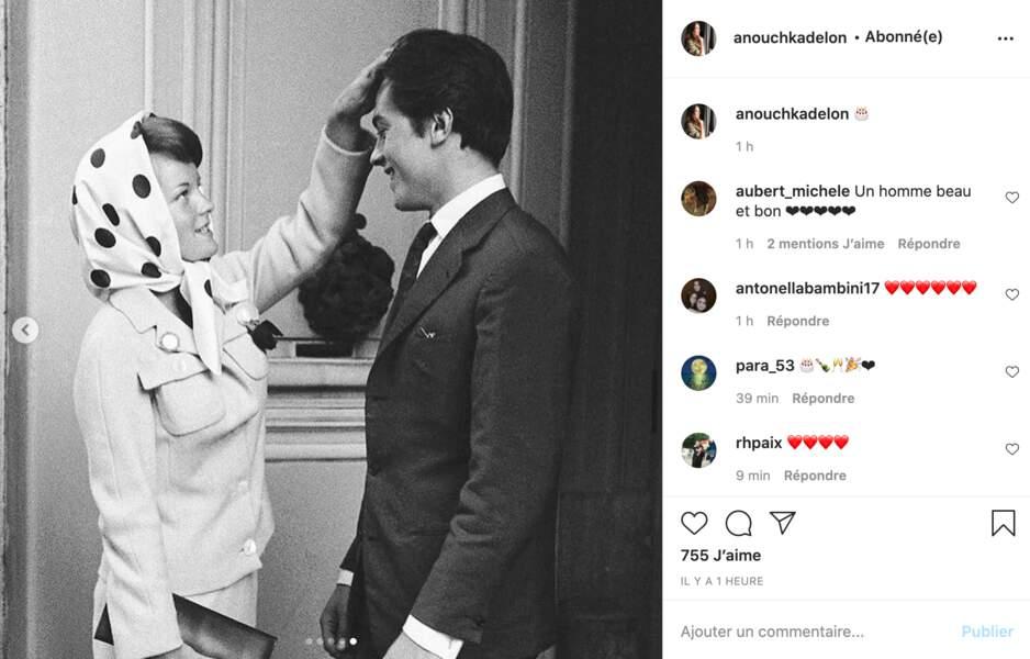 Anouchka Delon souhaite un bon anniversaire à son père Alain Delon