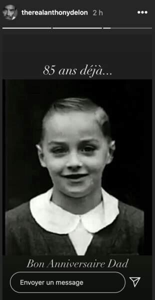 Anthony Delon souhaite un bon anniversaire à son père Alain Delon
