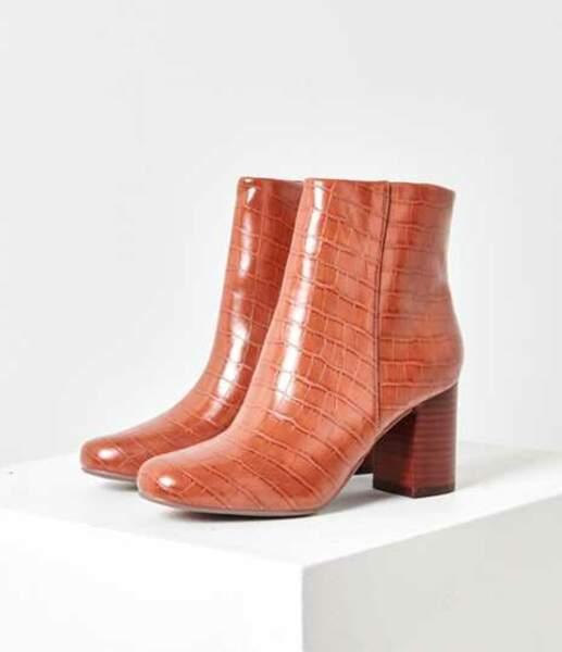 Boots effet croco, Camaïeu, actuellement à 25 €