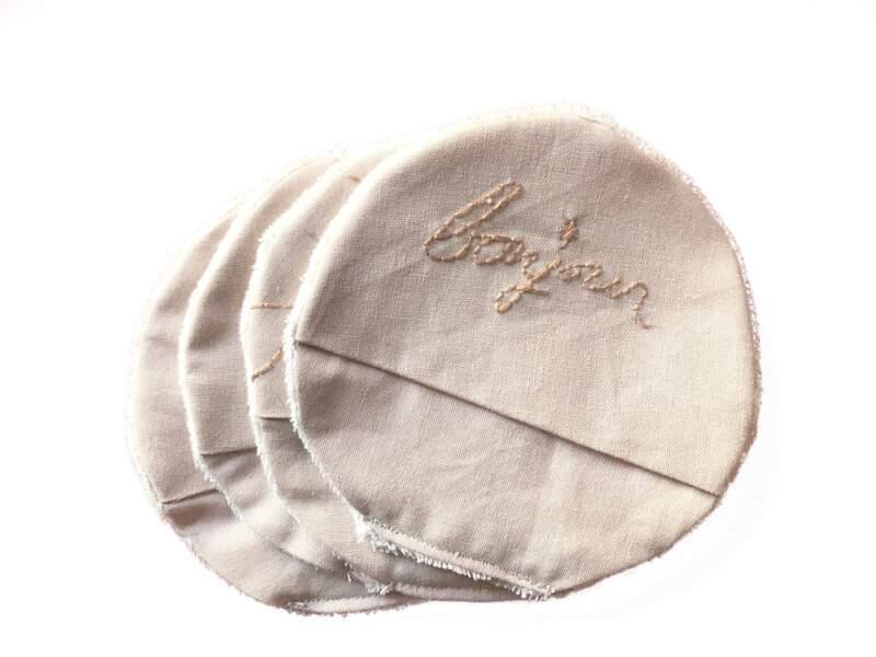 4 disques démaquillants à poche, Margo et Simone sur Etsy, 8 €