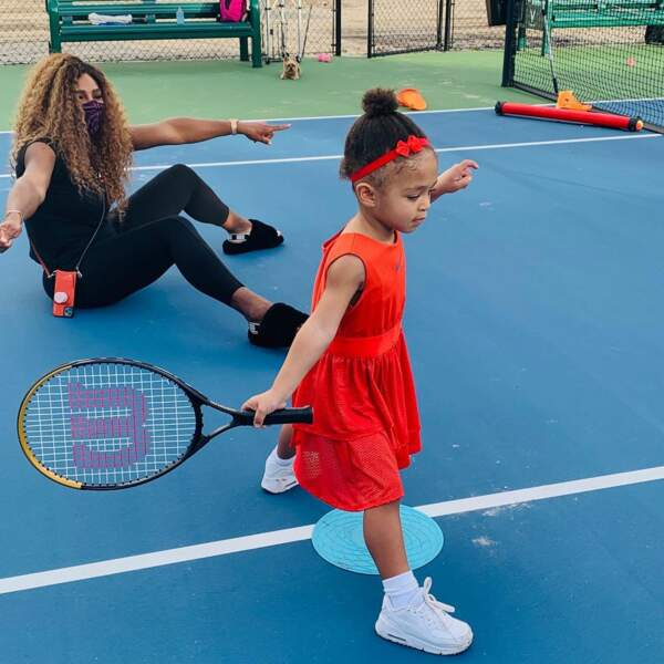 Serena Williams et Alexis Olympia