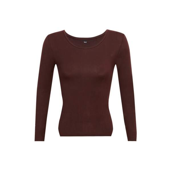 Top seconde peau, collection Les Thermiques Well, 25 €