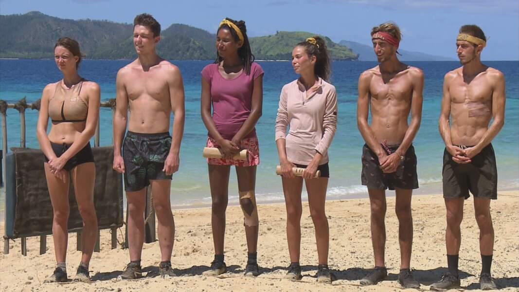Koh-Lanta, les 4 Terres : Alexandra, Loïc, Angélique, Lola, Brice et Dorian