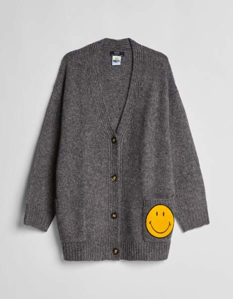 Gilet Smiley x Bershka, 35,99€