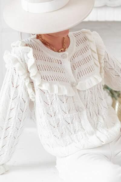 Gilet en laine à volants Lina, Pretty Wire, 42,90€