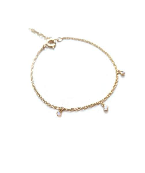 VIERGE / Bracelet Joy en opale, Gisel B, 49€