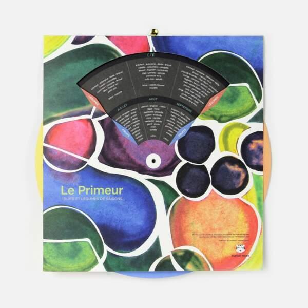 VIERGE / Calendrier de fruits et légumes de saison Le Primeur, Papier Tigre, 23€