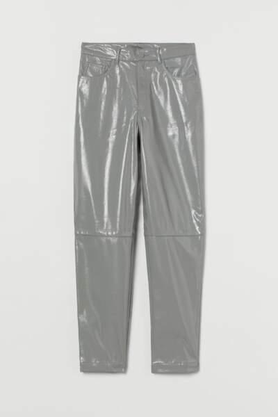 SCORPION / Pantalon en similicuir gris, H&M, 49,99€