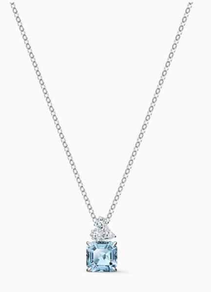VERSEAU / Pendentif Sparkling aigue-marine & turquoise, Swarovski, 89€