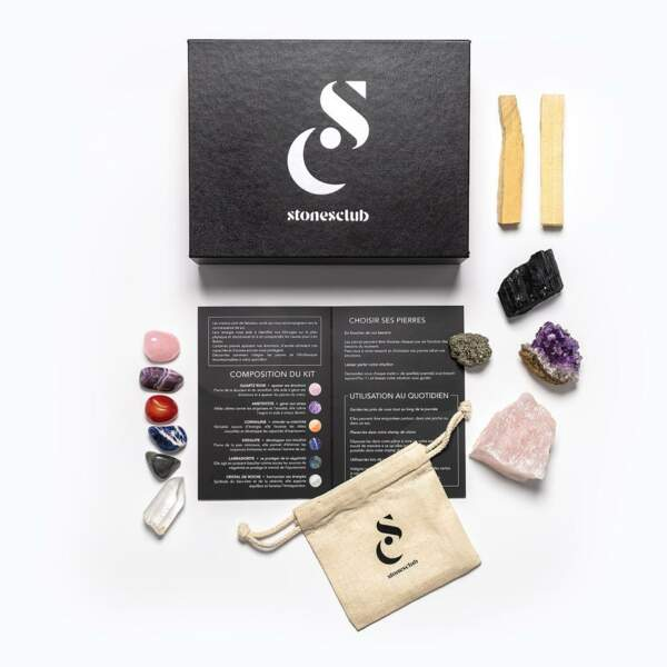 GEMEAUX / Coffret d'initiation à la lithothérapie XL, Stones Club, 89€