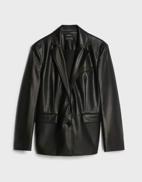 SCORPION / Blazer en similicuir, Bershka, 35,99€