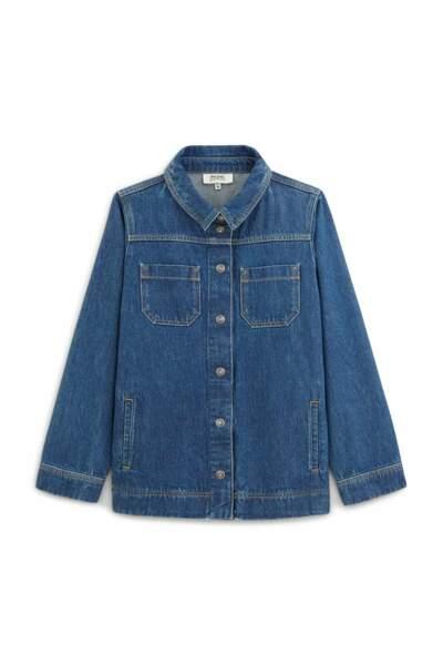 CANCER / Veste MANOA jean en coton biologique, Balzac Paris, 110€