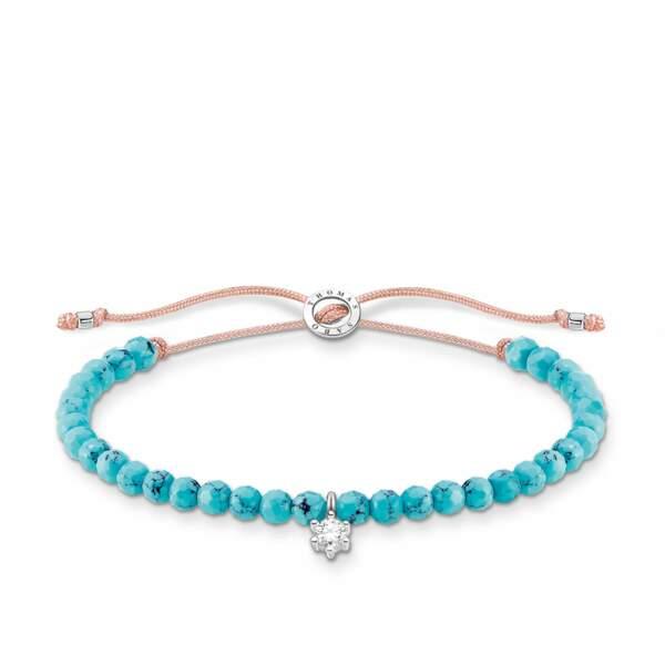 GEMEAUX / Bracelet perles de turquoise, Thomas Sabo, 49€