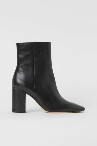 BALANCE / Bottines en cuir Premium Quality, H&M, 69,99€