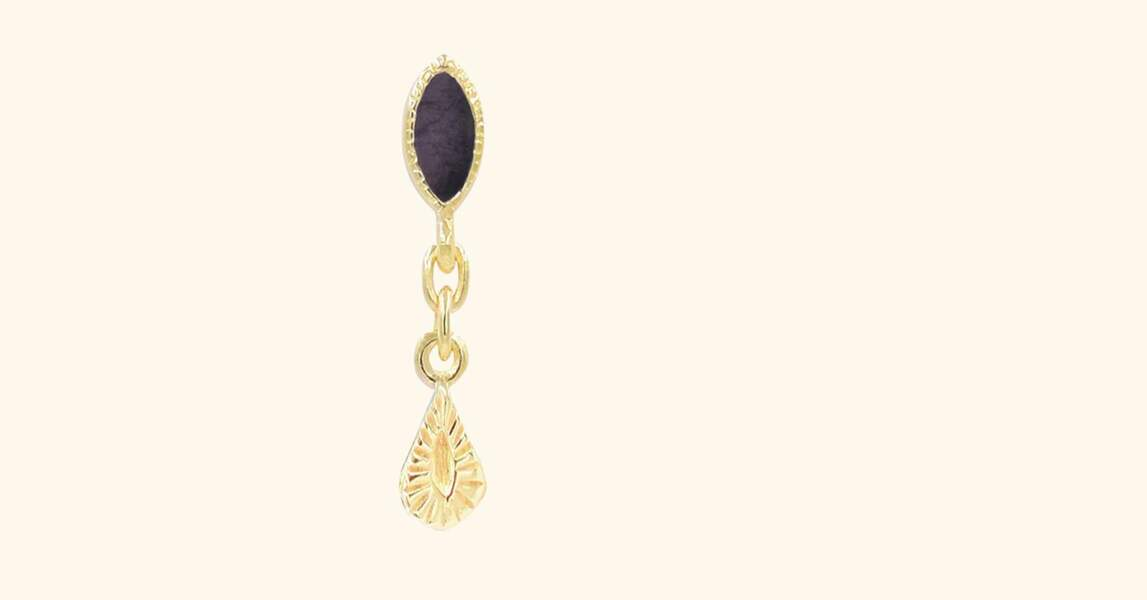 CAPRICORNE / Nala Single Earring onyx, BE MAAD, 35€