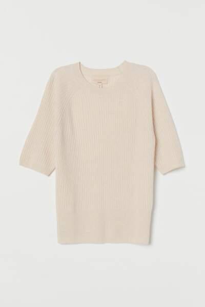 Pull à manches courtes en cachemire, H&M, 69,99€