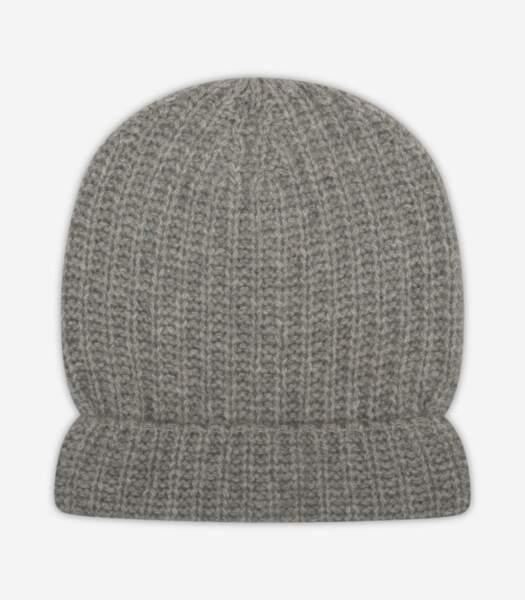 Bonnet à côtes 100 cachemire, From Future, 49€