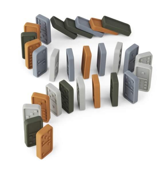 Jeu de dominos en silicone 28 pièces, Dodo Liewood sur Manipani, 35€