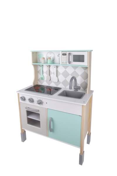 Cuisine en bois pour enfant, 85 cm, Carrefour, 39,90 €