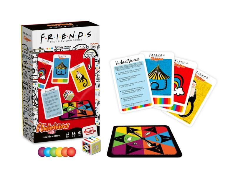 """Jeu de société """"L'Embobineur"""", quizz sur la série Friends, à partir de 12 ans, de 4 à 6 joueurs, Cartamundi, 14,99 €"""