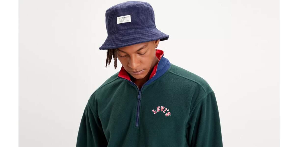 Bucket hat en velours côtelé, Levi's, 35€