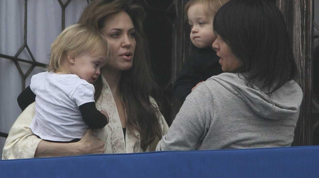 PHOTOS Angelina Jolie à Venise avec ses jumeaux