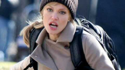 PHOTOS Angelina Jolie tourne le film Salt, en blonde