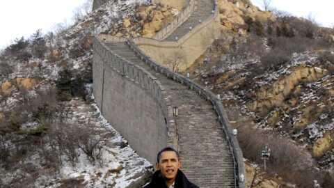 PHOTOS Barack Obama a visité la Muraille de Chine
