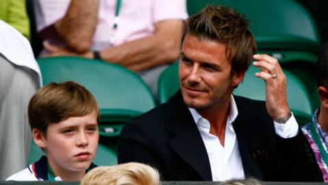 PHOTOS David Beckham et son fils à Wimbledon