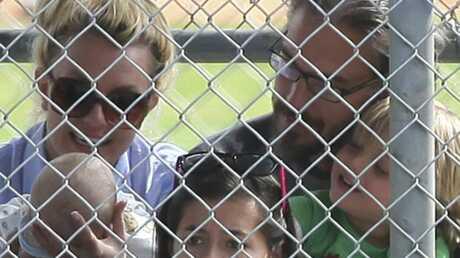 PHOTOS Britney Spears au match de baseball de son fils