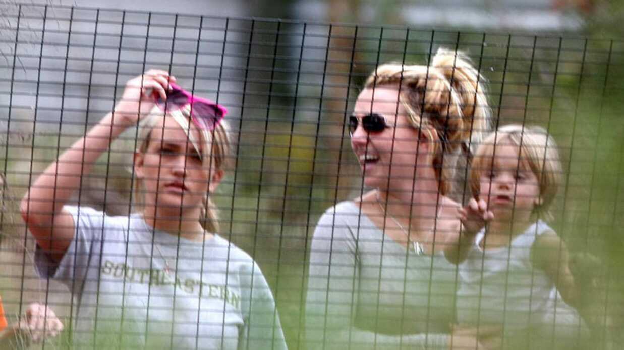 Britney Spears et ses enfants chez les crocodiles