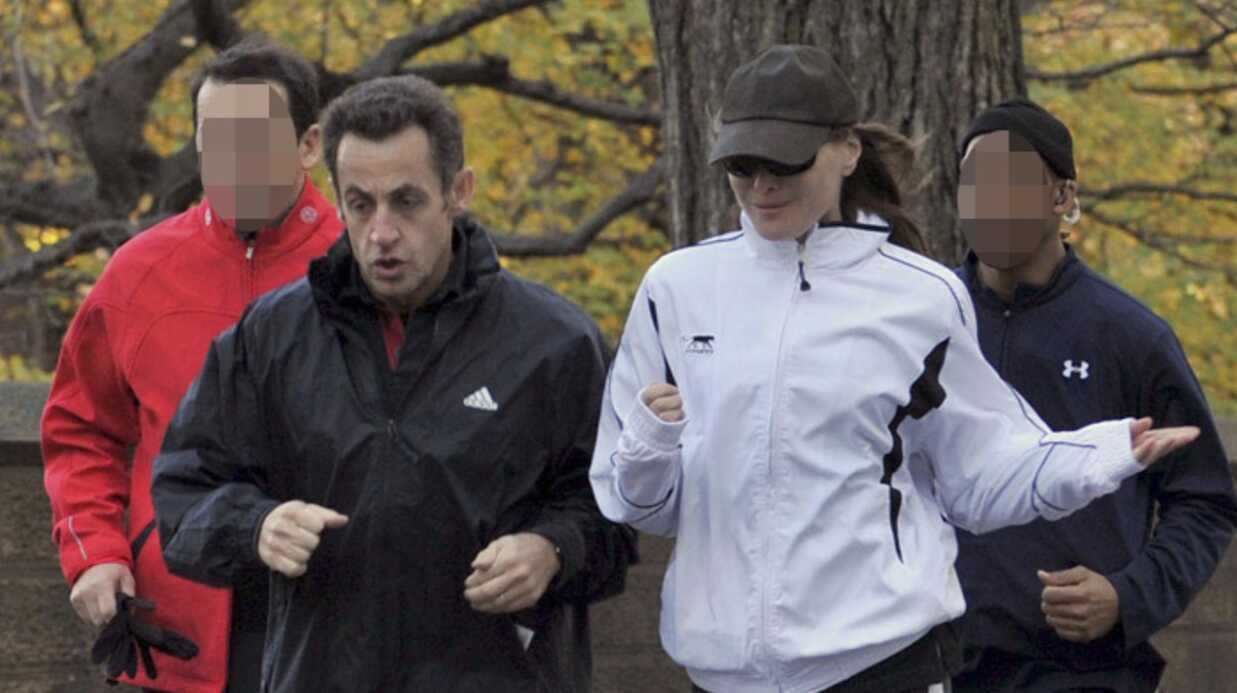 Carla Bruni-Sarkozy et Nicolas Sarkozy: footing à New York