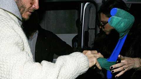 PHOTOS David Beckham quitte la clinique