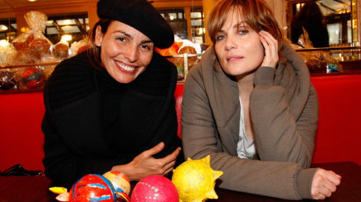 PHOTOS – Ines Sastre et Emmanuelle Seigner au Flore