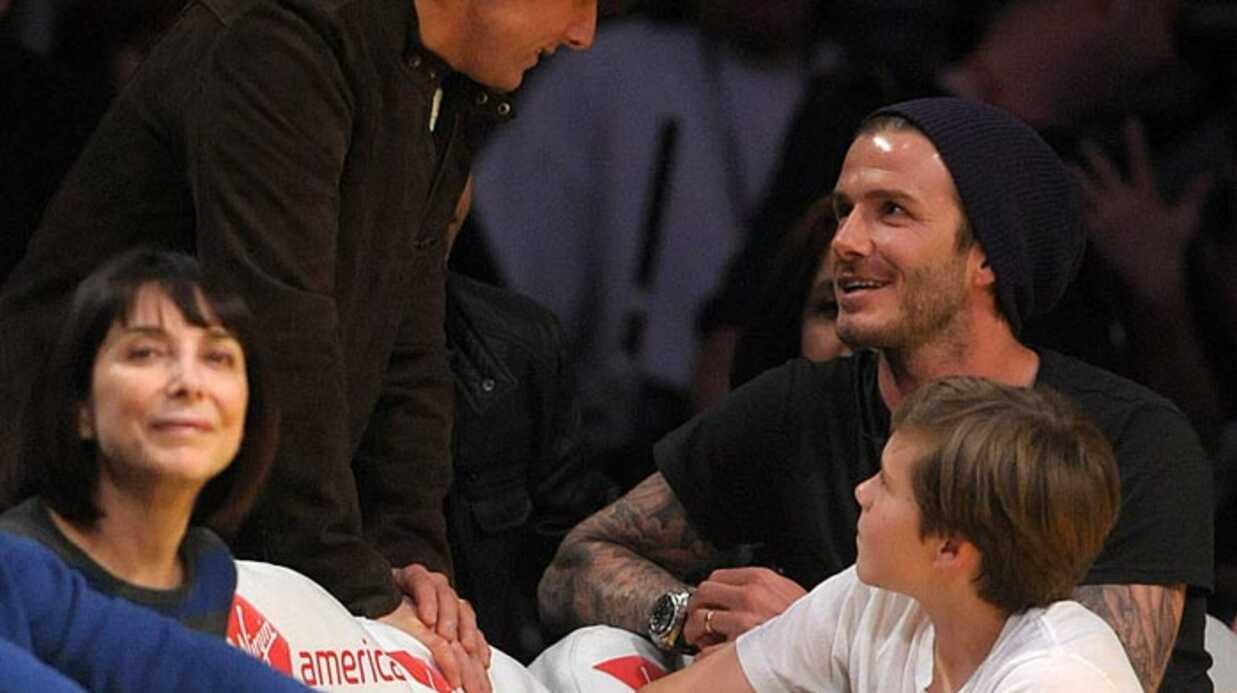 PHOTOS Les people père et fils au match des LA Lakers
