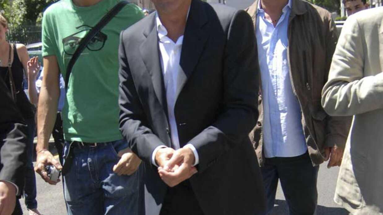 PHOTOS George Clooney arrive sur le tournage du nouveau spot Nespresso