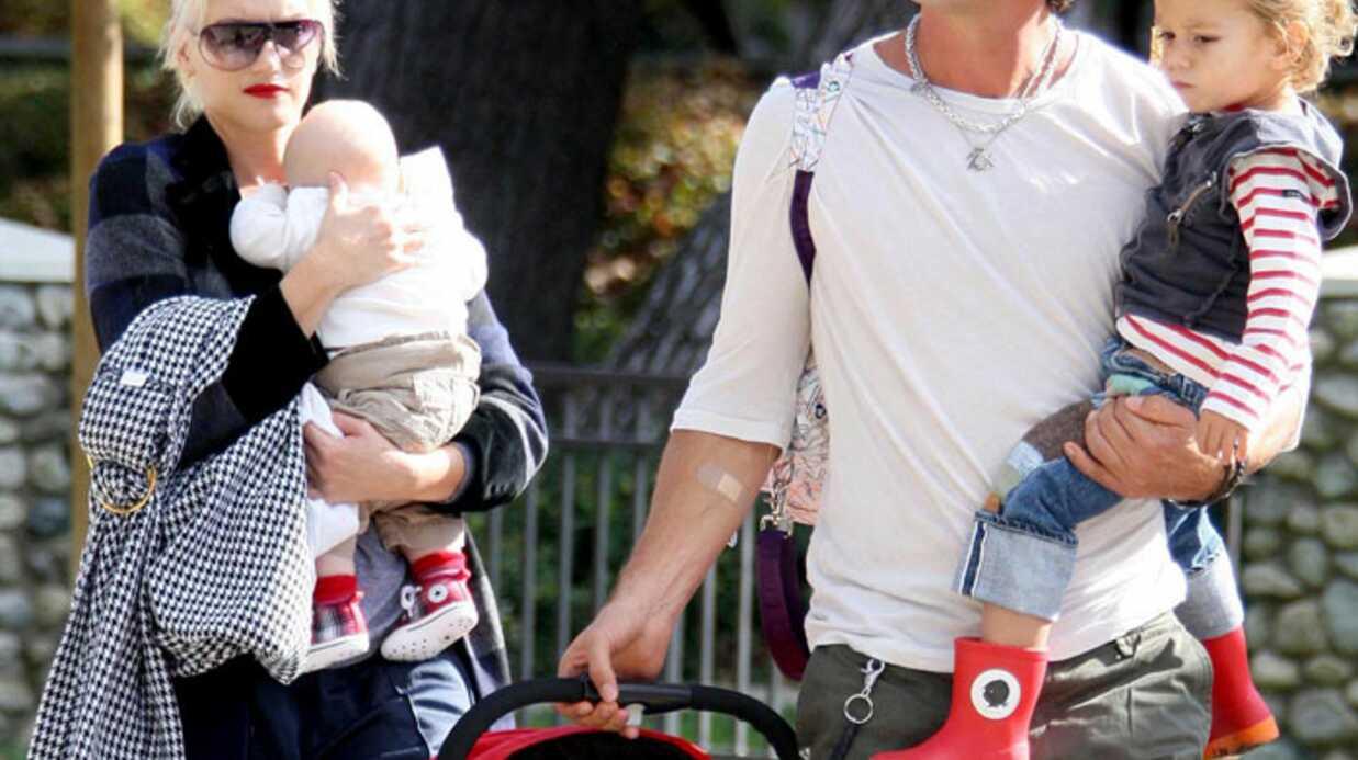 Gwen Stefani au parc avec toute sa famille