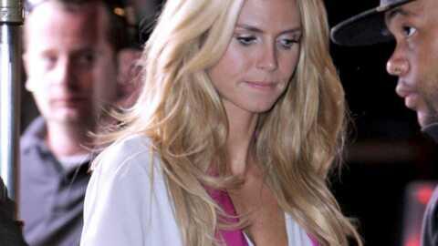 Heidi Klum très sexy sur le tournage d'une publicité