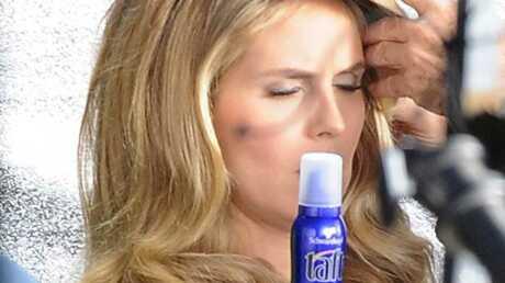 Photos: Heidi Klum en plein tournage d'une publicité