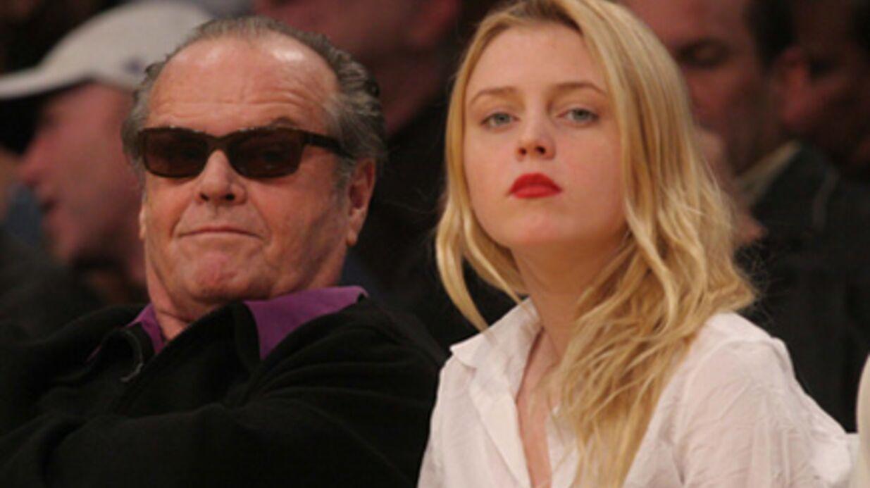 PHOTOS Jack Nicholson et sa fille soutiennent les Lakers
