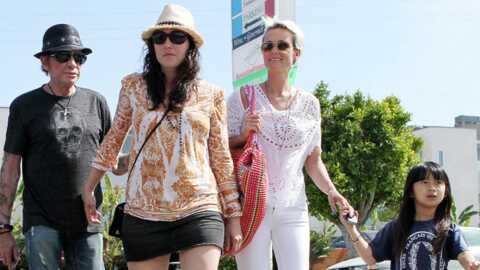 PHOTOS Johnny Hallyday: Laeticia et Laura réconciliées