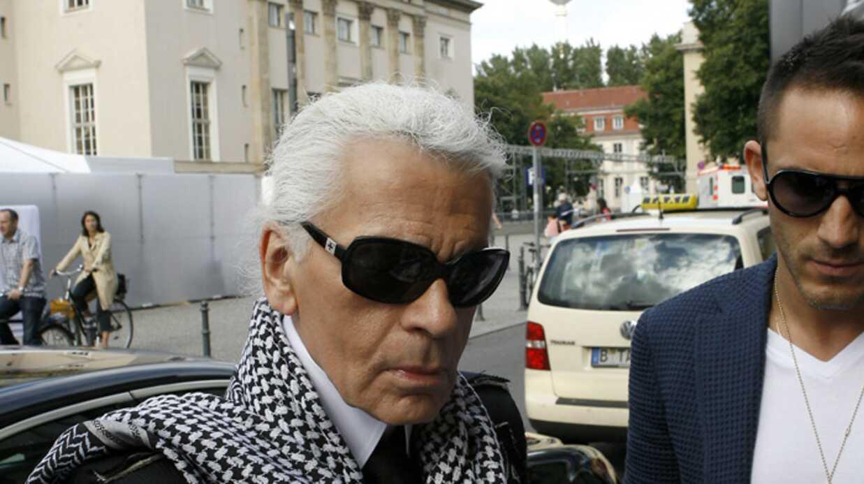 Karl Lagerfled à la Fashion Week de Berlin