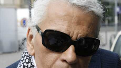 Karl Lagerfled à la Fashion Week de Berlin
