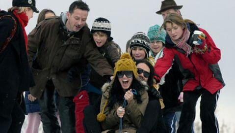 PHOTOS Katy Perry et Russell Brand font de la luge à Londres