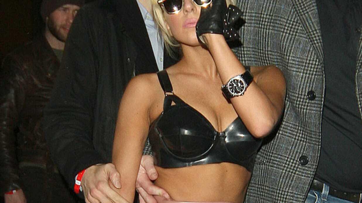 LOOK  Lady Gaga est sexy en latex