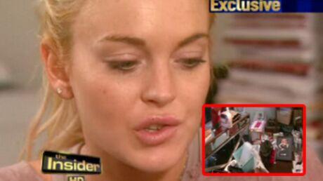 PHOTOS Lindsay Lohan: chez elle, c'est le foutoir!