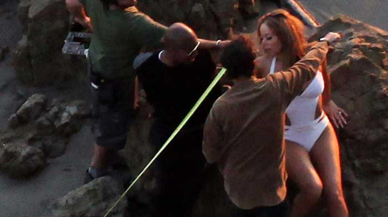 PHOTOS Mariah Carey: (pas) sexy sur le tournage de son clip